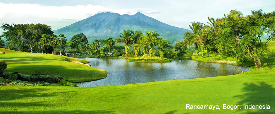 Golf course in Rancamaya, Bogor, Indonesia